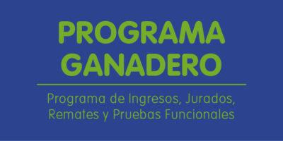 Programa Ganadero 2019 Expo Prado